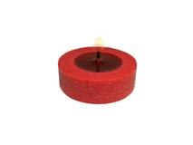 röd white för bakgrundsburningstearinljus Royaltyfria Foton