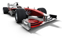 röd white för bilrace Royaltyfria Foton