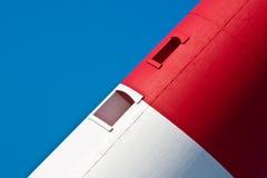 röd white för blå fyr Arkivbild