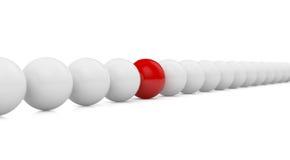 röd white för bollar Arkivfoton