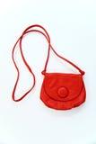 röd white för handväska Royaltyfri Fotografi