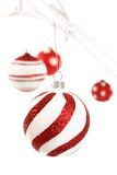 röd white för jul arkivfoto