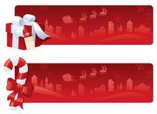 röd white för jul stock illustrationer