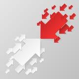 röd white för pilar Arkivfoto