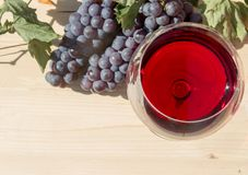 Röd wineglass Arkivbilder