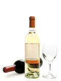 röd wineglass för vit wine Royaltyfri Fotografi