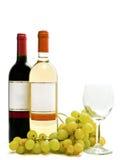 röd wineglass för vit wine för vine Arkivbilder