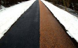 Röd Winther väg - som är svart och Fotografering för Bildbyråer