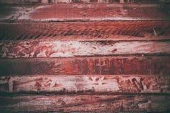 Röd wood textur i tappningstil Röd träabstrakt bakgrund Abstrakt textur och bakgrund för formgivare Closeupsikt av Arkivfoton