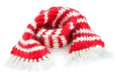 Röd woolen halsduk Royaltyfria Foton