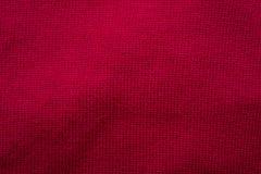 Röd woolen torkduk som abstrakt bakgrund Royaltyfri Foto