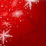 Röd Xmas-bakgrund Arkivfoto