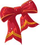 röd xmas för bowgarnering Arkivfoton