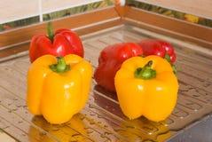 röd yellow för peppar Royaltyfria Bilder