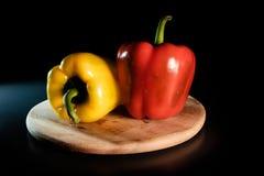 röd yellow för peppar Arkivfoton