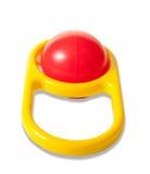 röd yellow för rattle fotografering för bildbyråer