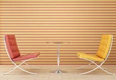 röd yellow för stol Arkivbild