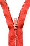 röd zipper Royaltyfri Fotografi