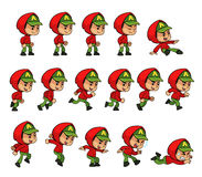 Röda älvor för Hoodiepojkelek Fotografering för Bildbyråer