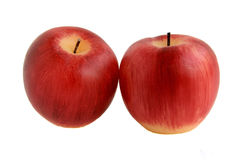 röda äpplestearinljus Arkivbilder