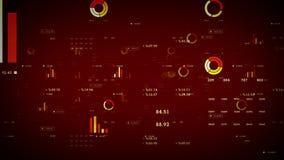 Röda affärsgrafer och data