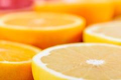Röda apelsiner, apelsiner och grapefruktcitrusfrukter Arkivbild
