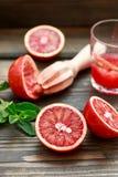röda apelsiner Blodiga Sicilian apelsiner Laga mat ny fruktsaft Royaltyfri Bild