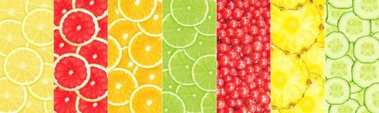 röda apelsiner för äpplecollagefrukt royaltyfri fotografi