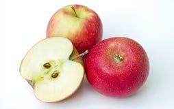 Röda aromatiska äpplen Royaltyfri Fotografi