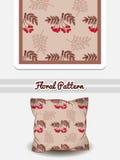 Röda bär för kudde Royaltyfria Foton