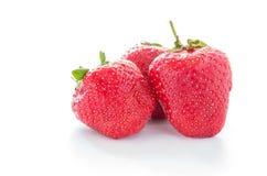 röda bär Ny röd jordgubbe Hemlagad jordgubbe arkivfoto