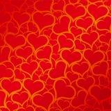 röda bakgrundshjärtor Royaltyfria Foton
