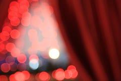 röda bakgrundsjullampor Fotografering för Bildbyråer