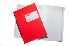 röda bakhårda anteckningsböcker Royaltyfri Fotografi