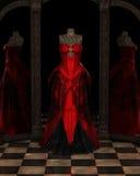 Röda Ballgown reflexioner royaltyfri illustrationer