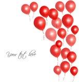Röda ballonger Royaltyfria Foton