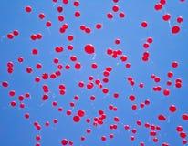 Röda ballonger royaltyfri bild