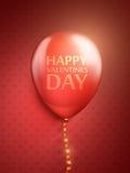 Röda ballonger på den röda bakgrunden Royaltyfria Foton