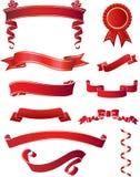 röda band vektor illustrationer