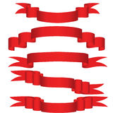 röda band Royaltyfri Bild