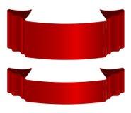 Röda bandpilar Arkivbild
