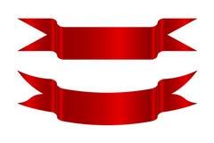 Röda bandpilar vektor illustrationer