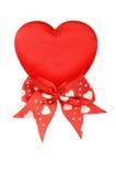 röda bandvalentiner för hjärta Arkivfoto