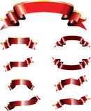röda baner Royaltyfri Bild