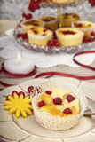 Röda Berry Pastry Tarts arkivbild