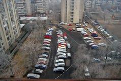 röda bilar Arkivbilder