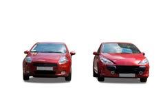 röda bilar Arkivbild