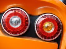 Röda bilbaklyktor Royaltyfria Foton