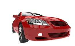 Röda bilbillyktor Arkivfoto