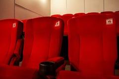 Röda bioplatser Royaltyfri Bild